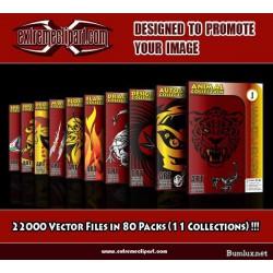 وکتور های سایت اکسترم کلیپ آرت - 22000 فایل وکتور در قالب 80 مجموعه